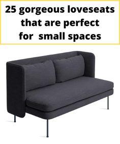 Modern grey two-seater sofa