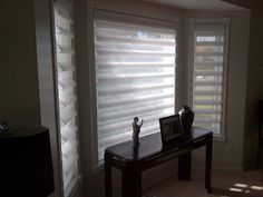 Pirouette Shades with Powerise by Sheila's window Toppers Crowfoot.