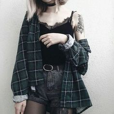 ways to look stylish wearing grunge outfits 33 15 Ways to Look Stylish Wearing Grunge Outfits Grunge Outfits, Tumblr Outfits, Edgy Outfits, Fashion Outfits, Grunge Clothes, Korean Outfits, Goth Girl Outfits, Edgy Summer Outfits, Summer Outfit For Teen Girls