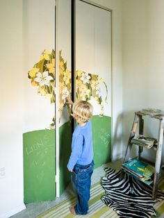neat idea for ugly bifold doors! Our Top Chalkboard Paint Ideas : Decorating : Home & Garden Television