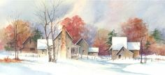 Early January watercolor