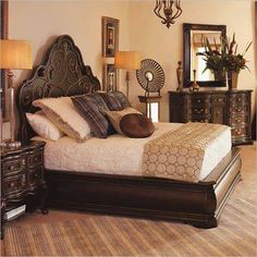 Bedroom furnished and decorated in an old-fashioned way
