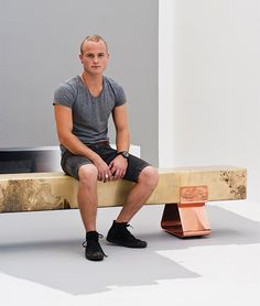 Laurie of Wiid design with some of his benches