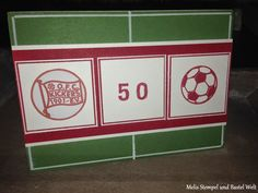 Stampin Up, Fußball Karte, Football, Soccer, Männer Karte, Man Card, Great Sport, ABC-123 Sketch Alphabet & Numbers, Kickers Offenbach