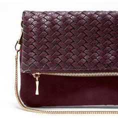 Women's Grape Vegan Leather Foldover Vegan Clutch | Vienna by Sole Society