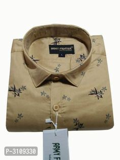 Men's Brown Cotton Printed Long Sleeves Regular Fit Casual Shirt by Trendys shop - Online shopping for Casual Shirts on MyShopPrime - Stylish Shirts, Casual Shirts, All Fashion, Mens Fashion, Textile Prints, Menswear, Shirt Dress, Printed, Brown