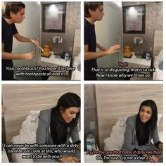 Scott Disick on the toothbrush