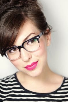 Keiko Lynn wearing Warby Parker Winston glasses in Lunar Fade - cute glasses Cute Glasses, New Glasses, Girls With Glasses, Glasses For Long Faces, Stylish Glasses For Women, Bangs And Glasses, Classic Glasses, Glasses Style, Glasses Online