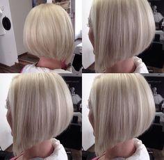 Bob Haircut For Fine Hair, Thin Hair Haircuts, Long Bob Hairstyles, Short Hair With Layers, Short Hair Cuts, Medium Hair Styles, Short Hair Styles, Grey Hair Care, Hair Highlights And Lowlights