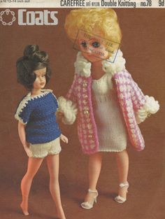 1970s Sindy Doll 2 outfits Teen doll clothes 12  14 by tinpotlil