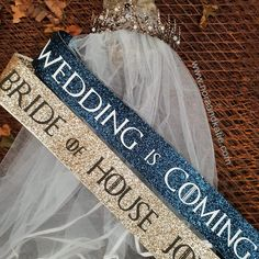 Wedding Season is Coming: How to Throw a Westorisi Wedding Game of Thrones Hen Do Kit<br> Want to throw (and survive) a Game of Thrones wedding that doesn't end up like the Red Wedding? We've got every corner of the Seven Kingdoms covered. Bachelorette Sash, Bachelorette Party Themes, Bachlorette Party, Red Wedding, Wedding Season, Wedding Day, Game Of Thrones Theme, Bride To Be Sash, Magical Wedding