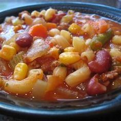Hearty Minestrone Soup @ allrecipes.co.uk