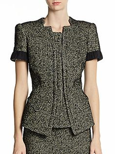 Tweed Short-Sleeve Jacket