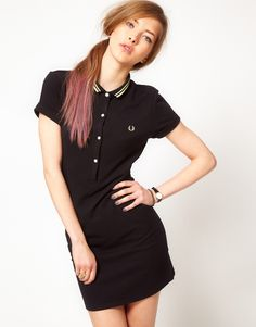 Fred Perry for The Amy Winehouse Foundation Polo Shirt Dress - Asos
