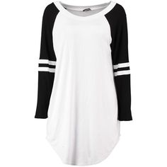 Heidi Contrast Basketball Oversized Tee (19 GTQ) ❤ liked on Polyvore featuring tops, t-shirts, shirts, long sleeves, dresses, t shirt, white shirt, white t shirt, oversized long sleeve t shirt and oversized white shirt