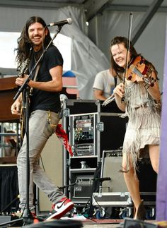 Avett Brothers.  Seth Avett and Tania Elizabeth.