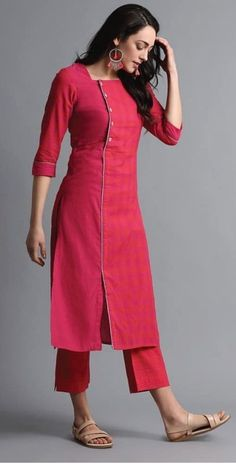 Kurti Neck Designs– 23 Latest Neck Styles for Kurtis In 2020 Kurti Sleeves Design, Sleeves Designs For Dresses, Neck Designs For Suits, Kurta Neck Design, Dress Neck Designs, Tunic Designs, Salwar Designs, Simple Kurti Designs, Kurta Designs Women