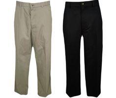 Dockers Khaki Pants 32 Brushed Cotton Classic Flat Front Brown Black Beige NEW #DOCKERS #KhakisChinos