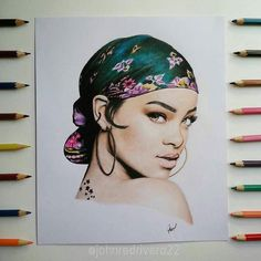 WANT A SHOUTOUT ?   CLICK LINK IN MY PROFILE !!!    Tag  #DRKYSELA   Repost from @johnredrivera   @badgalriri  drawn with colored pencil.  pls tag her  via http://instagram.com/zbynekkysela