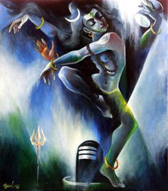 Ujjwal debnath   the divine dance ii   oil   acrylic on canvas 36 x 30 in '15 rs 45k 6 1 2 1