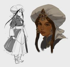"""""""trying to find her face because my painting style morphs every time! Trying to go for that oil painting style that I dream of having one day 🥰"""" Character Design Animation, Character Art, Character Illustration, Illustration Art, Dope Art, Fantasy Characters, Art Inspo, Art Sketches, Character Inspiration"""