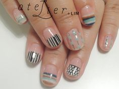 To know more about atelier+LIM hand nail, visit Sumally, a social network that gathers together all the wanted things in the world! Featuring over other atelier+LIM items too! Nails Only, Love Nails, How To Do Nails, Nail Swag, Nail Atelier, Art Deco Nails, Garra, Nail Polish, Minimalist Nails