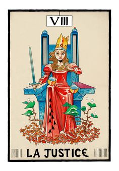 Justice - Tarot by Jamie Hewlett