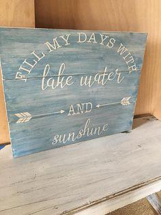LAKE HOUSE SIGN/Lake Home Decor/Cabin Home Decor/Lake Wood Sign/Outdoors Signs/Lake Themed Decor/Lake Life/Lake house style/Arrow Wood Sign