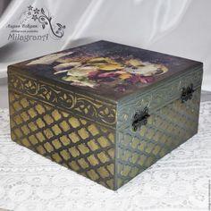 Pudełka Wykonane ręcznie. Tea Bag Torba pudełko decoupage Bratki na biżuterię. Lydia Vevdyuk MilagranA. Fair Masters.