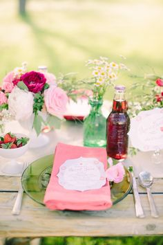 Pink and strawberry tablescape | 100layercake