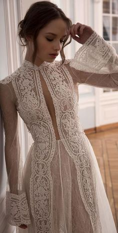 Wedding Dresses Casual Stunning bridal dress with incredible details - Very long sleeves wedding dress weddingdress weddinggown.Wedding Dresses Casual Stunning bridal dress with incredible details - Very long sleeves wedding dress weddingdress weddinggown Wedding Dress Black, Wedding Robe, Stunning Wedding Dresses, Wedding Dress Sleeves, Long Sleeve Wedding, Dream Wedding Dresses, Bridal Dresses, Wedding Gowns, Lace Dress