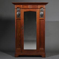 P.E. Gane Arts & Crafts Armoire   England, early 20th century