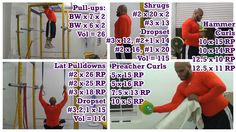 Pullups Pulldowns Shrugs & Biceps:  https://youtu.be/b_k6cyokXno