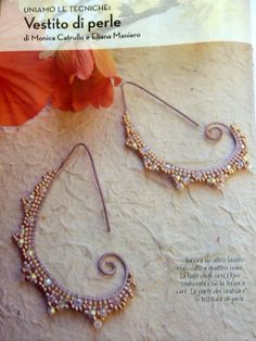 Love the delicate look of these beaded earrings