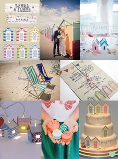 Beach Hut Inspired #Wedding Ideas Mood Board from The Wedding Community