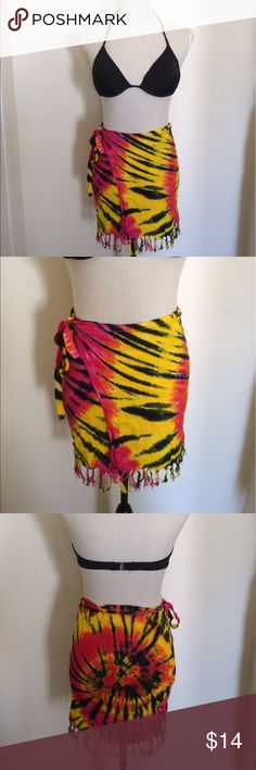 Costa Rica Tie-Dye Beach Wrap Size XS-S. Purchased in Costa Rica Accessories Scarves & Wraps