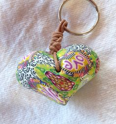 Heart+bead+keychain...Perfect+Valentine++by+BillieBeads+on+Etsy,+$40.00