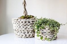You need one of these chunky knitted baskets right now