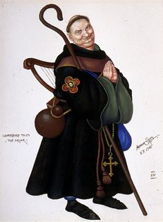 "Arthur Szyk - ""The Friar"" from The Canterbury Tales"