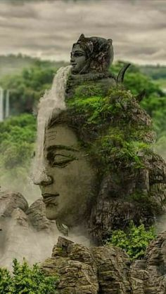 Ganga mata (water goddesses) flowing over lord Shiva Shiva Shakti, Rudra Shiva, Shiva Linga, Shiva Art, Lord Shiva Pics, Lord Shiva Hd Images, Lord Shiva Family, Lord Shiva Hd Wallpaper, Lord Hanuman Wallpapers