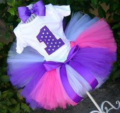 The Fairy Princess Super Fluff Tutu Set Includes Tutu, Onsie/Shirt and bow -Great for First Birthdays. $35.95, via Etsy.