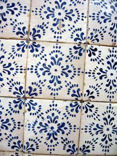 Kacheln Muster Blau Weiss Bild kostenlos