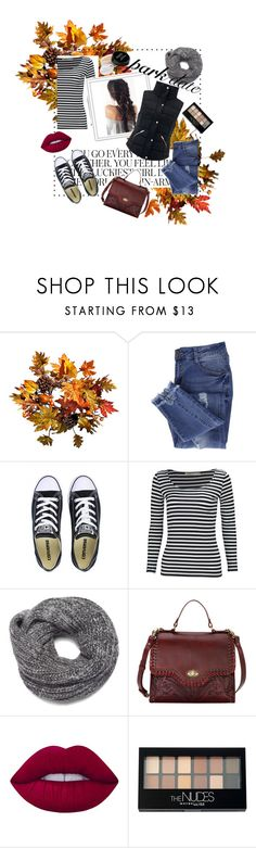 """""""first date"""" by nadini0303 ❤ liked on Polyvore featuring Improvements, Kate Spade, Essie, Converse, Nine West, Lime Crime, Maybelline and Monsoon"""