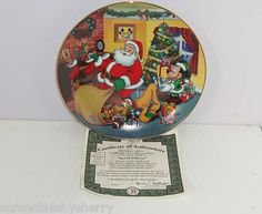 Disney Mickeys Holiday Magic Special Delivery Collecter Plate Bradford Exchange