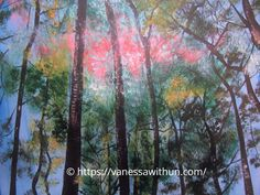 A Forest: Impressionism Painting