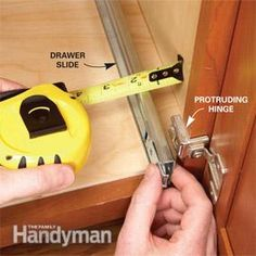 great tips from The Family Handyman for installing rollouts in cabinets