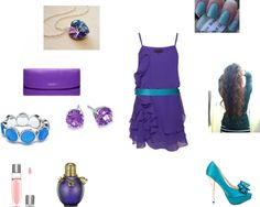 """""""purple and blue"""" by kimberly-283 on Polyvore"""