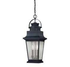 "27"" H X 10 23lbs Barrister Hanging Lantern"