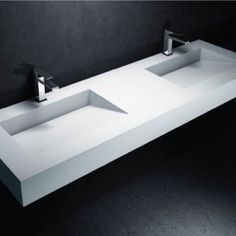Plan vasque double Corian® by DuPont™ Tenesse