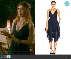 3bf1a5f705e0 Clary s blue lace dress on Shadowhunters. Outfit Details  https   wornontv.